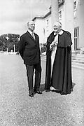 15/7/1964<br /> 07/15/1964<br /> 15 July 1964<br /> <br /> President Éamon de Valera and Cardinal Browne at Aras an Uachtarain