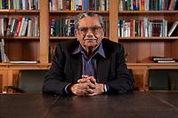 31 MAY 2010, BERLIN/GERMANY:<br /> Jagdish Natwarlal Bhagwati, indischer Oekonom und Professor fuer Politik und Wirtschaft an der Columbia University, nach einem Interview, Bibiothek der American Academy<br /> IMAGE: 20100531-02-098<br /> KEYWORDS: Jagdish Bhagwati, Ökonom