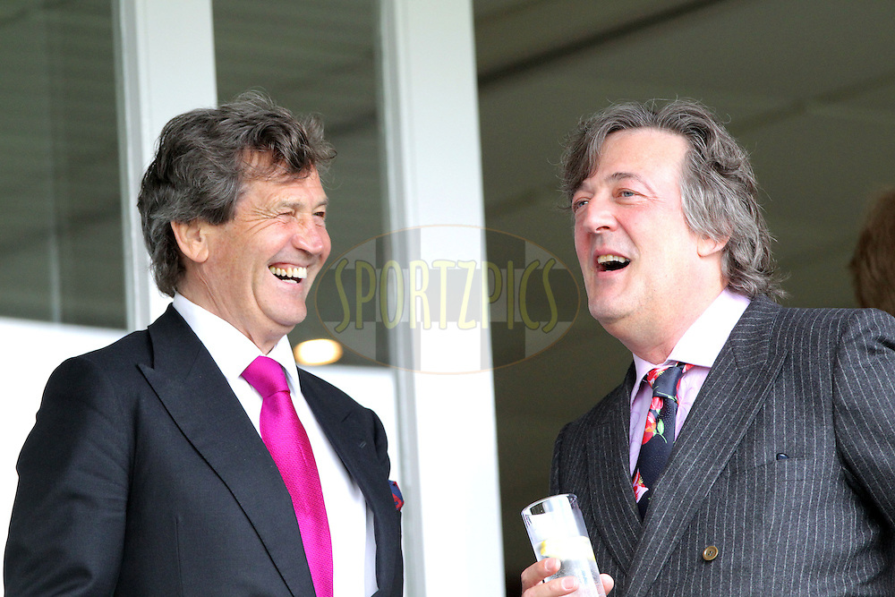 © SPORTZPICS / Seconds Left Images 2010 - Melvyn Bragg .(L) enjoys a jovial lunch time chat with Stephen Fry - England v Bangladesh - 1st Test - Day 1 - Lord's Cricket Ground  St. John's Wood, London 27/06/2010 -  All rights reserved.
