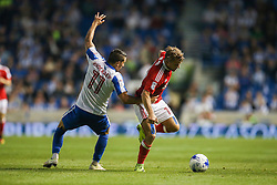 Anthony Knockaert of Brighton & Hove Albion fouls Jamie Ward of Nottingham Forest - Mandatory by-line: Jason Brown/JMP - 12/08/2016 - FOOTBALL - Amex Stadium - Brighton, England - Brighton & Hove Albion v Nottingham Forest - Sky Bet Championship
