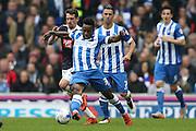 Brighton midfielder, winger, Kazenga LuaLua (30) during the Sky Bet Championship match between Brighton and Hove Albion and Derby County at the American Express Community Stadium, Brighton and Hove, England on 2 May 2016.