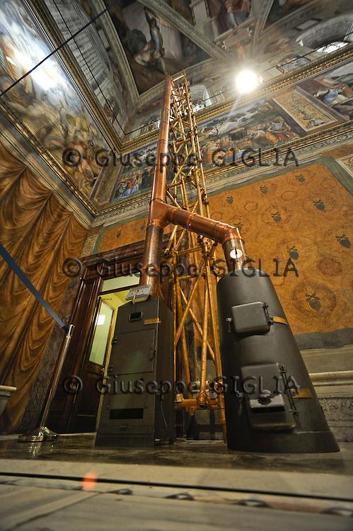 Cappella Sistina, the stoves for black or white smoke.