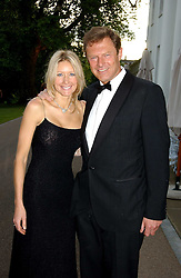 LORD & LADY ST.JOHN of BLETSO at the Game Conservancy Jubilee Ball in aid of the Game Conservancy Trust held at The Hurlingham Club, London SW6 on 26th May 2005<br />