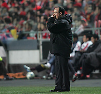 Photo: Lee Earle.<br /> Benfica v Liverpool. UEFA Champions League. 2nd Round, 1st Leg. 21/02/2006. Liverpool manager Rafa Benitez.