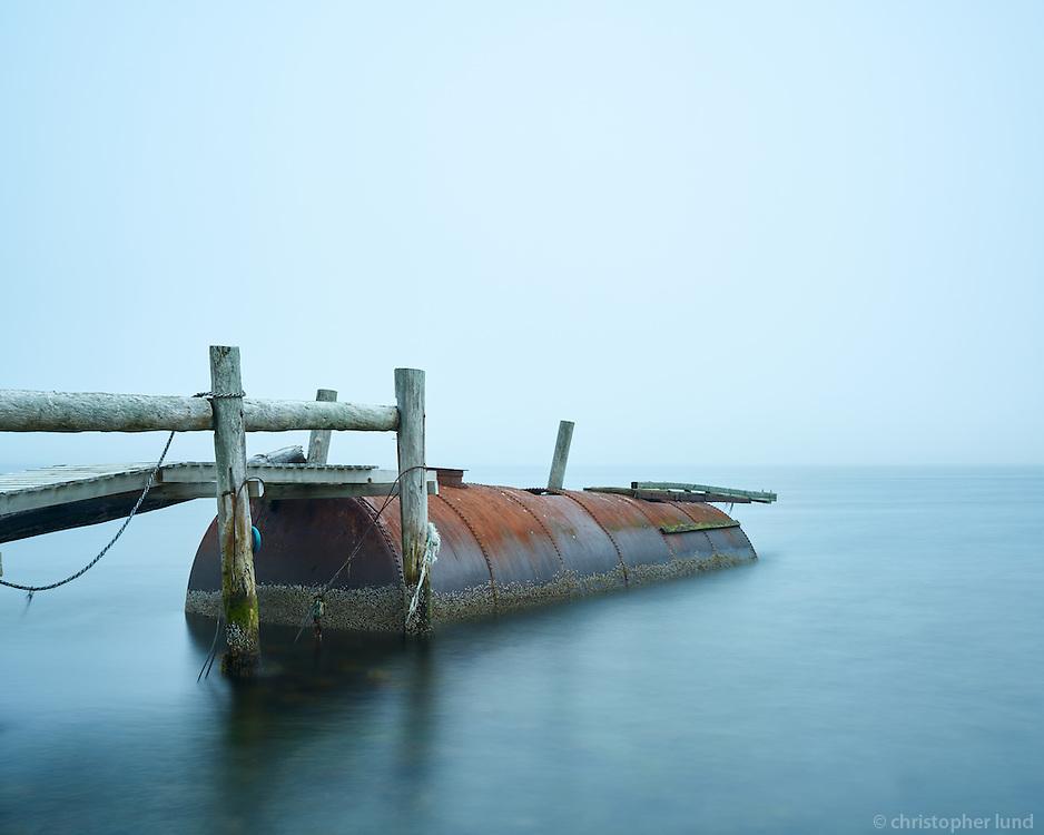 The remains of the old herring factory in Ingólfsfjörður. Strandir, Northwest Iceland.