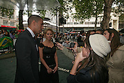 Joey Ansah, Premiere of The Bourne Ultimatum. Odeon, Leicester Sq. London. 15 August 2007.   -DO NOT ARCHIVE-© Copyright Photograph by Dafydd Jones. 248 Clapham Rd. London SW9 0PZ. Tel 0207 820 0771. www.dafjones.com.