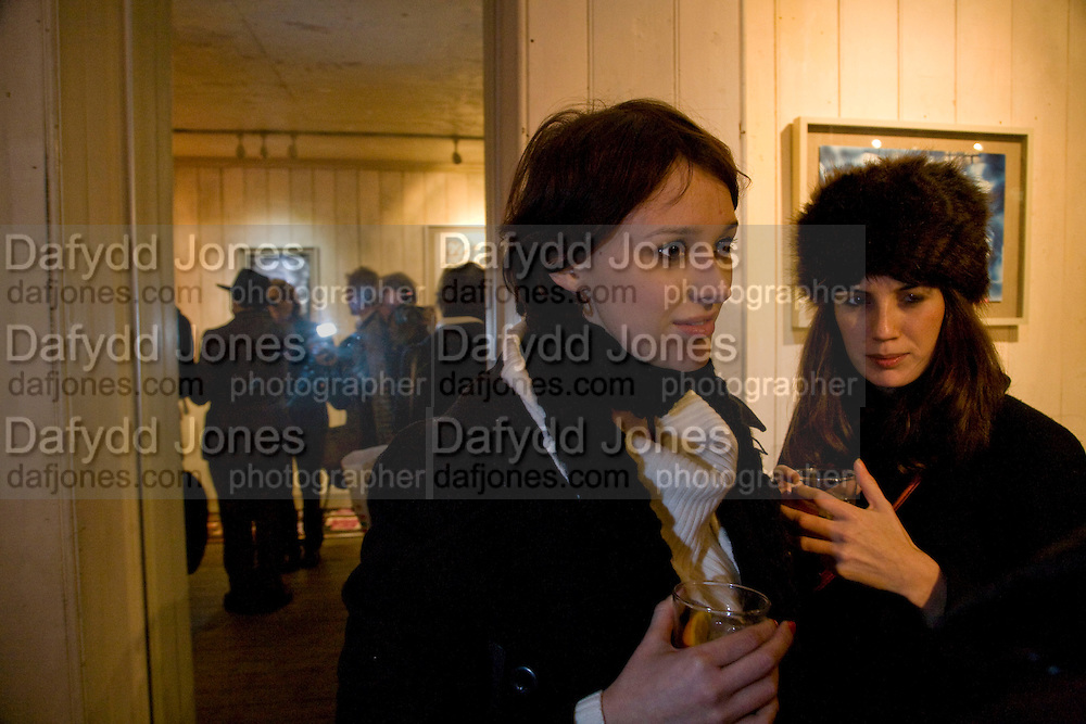 CHARLOTTE WILDE; LUCY CLEMENCE-NICHOLAS, William S Burroughs: Private Files Exhibition - private view<br /> Riflemaker Contemporary Art Gallery, 79 Beak Street. London. 15 December 2008 *** Local Caption *** -DO NOT ARCHIVE-© Copyright Photograph by Dafydd Jones. 248 Clapham Rd. London SW9 0PZ. Tel 0207 820 0771. www.dafjones.com.<br /> CHARLOTTE WILDE; LUCY CLEMENCE-NICHOLAS, William S Burroughs: Private Files Exhibition - private view<br /> Riflemaker Contemporary Art Gallery, 79 Beak Street. London. 15 December 2008