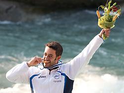 Gold medalist Daniele Molmenti of Italy in the Men's Kayak K-1 at ICF Canoe Slalom World Championships - Sloka 2010 on September 12, 2010 in Tacen, Ljubljana, Slovenia (Photo by Matic Klansek Velej / Sportida)