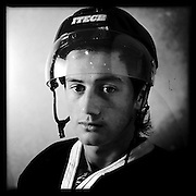 Ice Men Cometh… Garth Henare, 18, New Zealand..An iPhone portrait series on young men competing in the 2012 IIHF Ice Hockey World Championships Division 3. The tournament  was contested by countries New Zealand, Iceland, China, Bulgaria and Turkey at Dunedin Ice Stadium. Dunedin, Otago, New Zealand. 17th January 2012. Photo Tim Clayton
