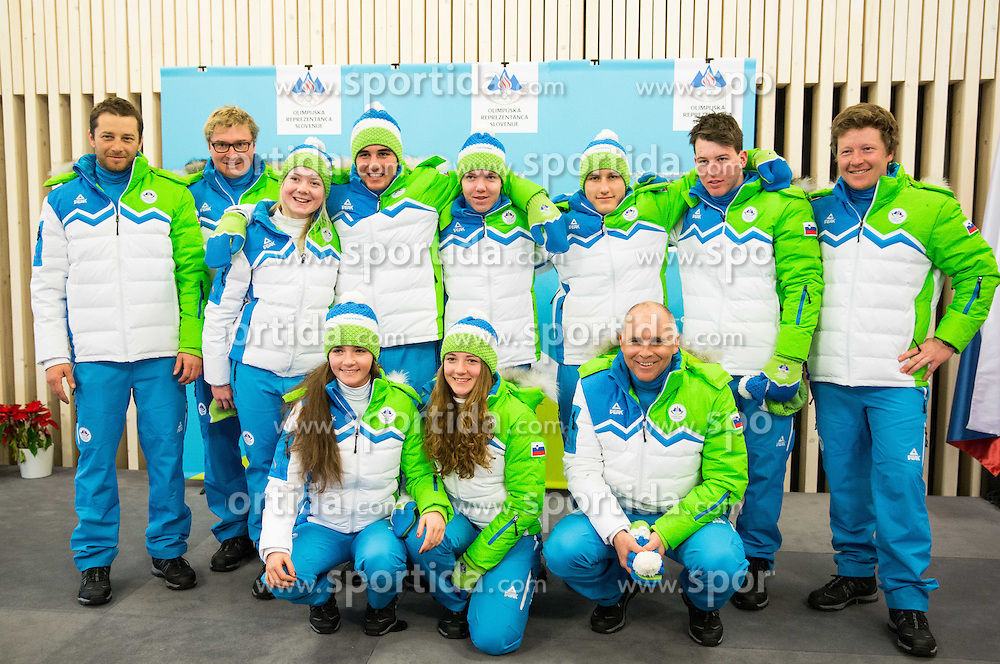 during presentation of Slovenian Young Athletes before departure to EYOF (European Youth Olympic Festival) in Vorarlberg and Liechtenstein, on January 21, 2015 in Bled, Slovenia. Photo by Vid Ponikvar / Sportida