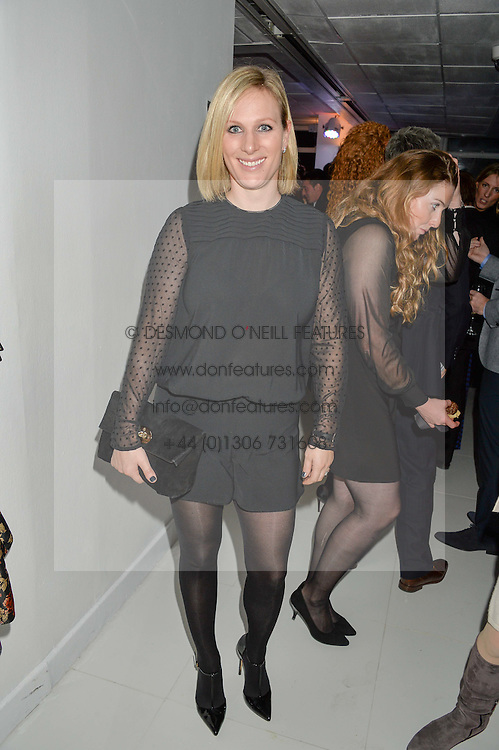 ZARA TINDALL at the London premier of Being AP held at Altitude 360, Millbank Tower, 30 Millbank, London on 23rd November 2015.