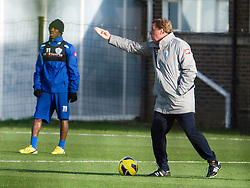 © London News Pictures. 30/11/2012. London, UK. QPR manager Harry Redknapp during training with QPR team player  Sahun Wright-Phillips at the training ground in Harlington, Wes London. Photo credit: Ben Cawthra/LNP