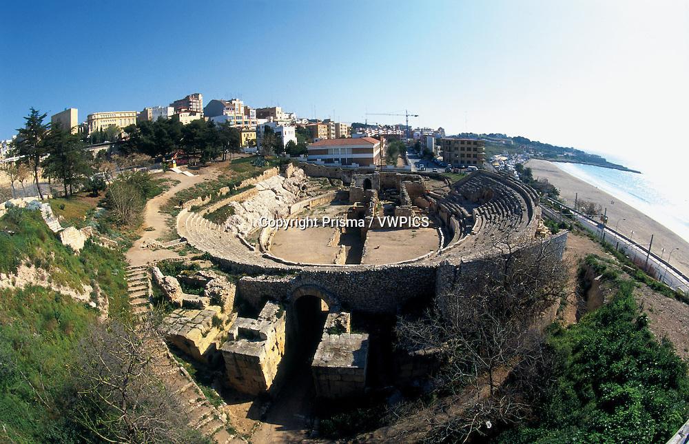 Roman art. Roman auditorium near the sea. Spain. B1270
