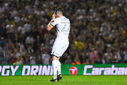 Leeds United midfielder Jack Harrison (22) misses a penalty in the penalty shoot out during the EFL Cup match between Leeds United and Stoke City at Elland Road, Leeds, England on 27 August 2019.