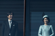 Prince Akishino, and his wife Princess Kiko appears before well-wishers who gathered to celebrate the monarch's 84th birthday at the Imperial Palace in Tokyo, Japan, December 23, 2017.23/12/2017-Tokyo, JAPAN