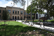 New Milby High School, scheduled to open August 2017. Design preserved the historically significant front facade.