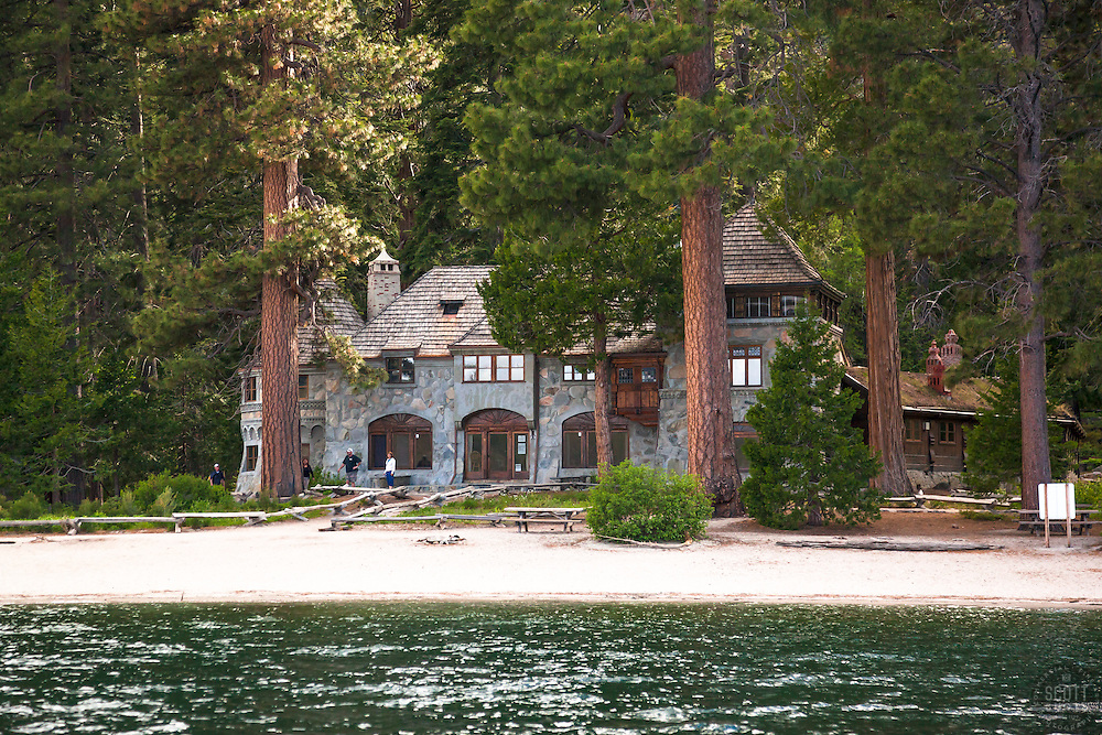 """Vikingsholm 1"" - Photograph of Lake Tahoe's Vikingsholm ""castle"" in Emerald Bay."