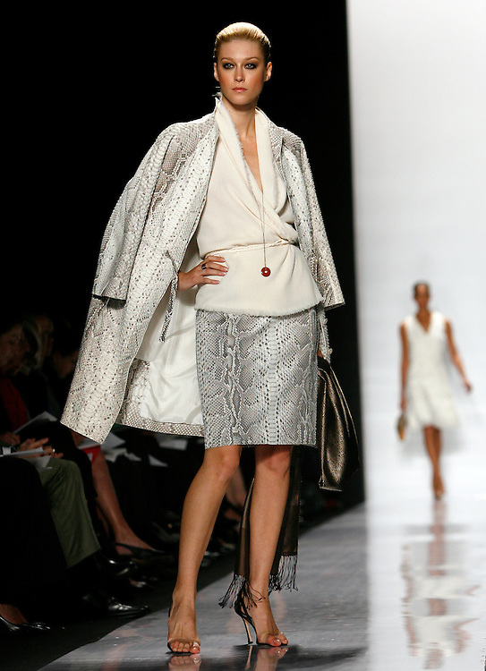 A model walks down the runway during the Spring 2007 showing of the Chado Ralph Rucci  collection during the 2006 Olympus Fashion week in New York Thursday 14 September 2006.