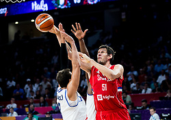 Boban Marjanovic of Serbia during basketball match between National Teams of Italy and Serbia at Day 14 in Round of 16 of the FIBA EuroBasket 2017 at Sinan Erdem Dome in Istanbul, Turkey on September 13, 2017. Photo by Vid Ponikvar / Sportida