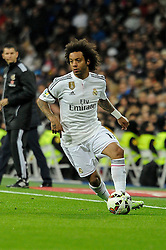 15.03.2015, Estadio Santiago Bernabeu, Madrid, ESP, Primera Division, Real Madrid vs UD Levante, 27. Runde, im Bild Real Madrid´s Marcelo Vieira // during the Spanish Primera Division 27th round match between Real Madrid CF and UD Levante at the Estadio Santiago Bernabeu in Madrid, Spain on 2015/03/15. EXPA Pictures © 2015, PhotoCredit: EXPA/ Alterphotos/ Luis Fernandez<br /> <br /> *****ATTENTION - OUT of ESP, SUI*****
