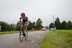 Nicole Hanselmann (Cervélo Bigla) attacks, going on to build a lead of over two minutes at the 141 km road race of the UCI Women's World Tour's 2016 Crescent Vårgårda women's road cycling race on August 21, 2016 in Vårgårda, Sweden. (Photo by Sean Robinson/Velofocus)