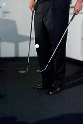 Notah Begay, Stanford alumni, pro golfer in human movement class