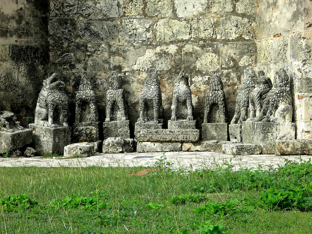 carvings at Basilica Cathedral of Santa María la Menor, Zona Colonial, Santo Domingo, Dominican Republic