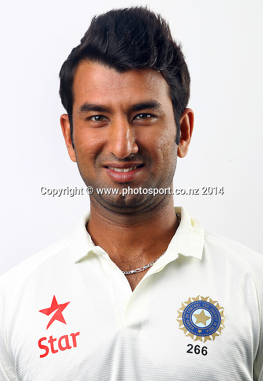 Cheteshwar Pujara - India Test Cricket Team Headshots, Eden Park, Auckland, New Zealand. Photo: William Booth/www.photosport.co.nz