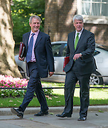 &copy; Licensed to London News Pictures. 10/06/2014. Westminster, UK. (L-R) Owen Patterson, Conservative MP, Secretary &nbsp;of &nbsp;State &nbsp;for &nbsp;Energy &nbsp;and &nbsp;Climate Change  and <br /> Andrew Lansley CBE, Conservative MP,  arrive at Cabinet 10th June 2014. Photo credit : Stephen Simpson/LNP