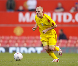 Manchester, England - Thursday, April 26, 2007: Liverpool's Michael Burns in action against Manchester United during the FA Youth Cup Final 2nd Leg at Old Trafford. (Pic by David Rawcliffe/Propaganda)