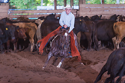 September 23, 2017 - Minshall Farm Cutting 5, held at Minshall Farms, Hillsburgh Ontario. The event was put on by the Ontario Cutting Horse Association. Riding in the Non-Pro Class is Greg Wilde on Bobby Cee Lena owned by the rider.
