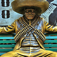 Mexican Bandito Statue in Playa del Carmen, Mexico<br />