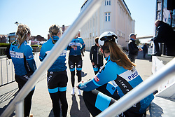 Hitec Products Birk Sport wait to sign on at Healthy Ageing Tour 2019 - Stage 1, a 102.5 km road race starting and finishing in Borkum, Germany on April 10, 2019. Photo by Sean Robinson/velofocus.com