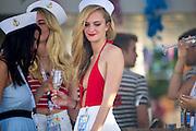 November 21-23, 2014 : Abu Dhabi Grand Prix. Women party on yachts in the Abu Dhabi marina.