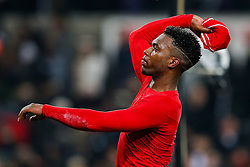 Daniel Sturridge of Liverpool throws his shirt to a fan after Liverpool win the match 0-1 - Photo mandatory by-line: Rogan Thomson/JMP - 07966 386802 - 16/03/2015 - SPORT - FOOTBALL - Swansea, Wales — Liberty Stadium - Swansea City v Liverpool - Barclays Premier League.