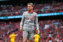 Simon Mignolet of Liverpool - Photo mandatory by-line: Rogan Thomson/JMP - 07966 386802 - 19/04/2015 - SPORT - FOOTBALL - London, England - Wembley Stadium - Aston Villa v Liverpool - FA Cup Semi Final.