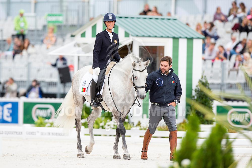 Sara Oliveira Duarte, (POR), Damasco - Individual Test Grade Ib Para Dressage - Alltech FEI World Equestrian Games&trade; 2014 - Normandy, France.<br /> &copy; Hippo Foto Team - Jon Stroud <br /> 25/06/14