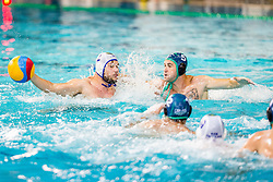 Players during match between AVK Triglav Kranj and VKL Ljubljana Slovan in 4th Round of Final of Slovenian Water polo National Championship, on June 20, 2018 in Pokriti olimpijski bazen Kranj, Kranj, Slovenia. Photo by Ziga Zupan / Sportida