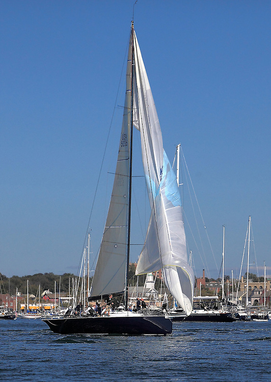 Interlodge jibes at the finish of 9th Annual Sail for Hope event in Newport, RI.