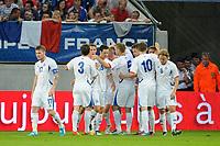 FOOTBALL - INTERNATIONAL FRIENDLY GAMES 2011/2012 - FRANCE v ICELAND - 27/05/2012 - PHOTO JEAN MARIE HERVIO / REGAMEDIA / DPPI - JOY ICELAND AFTER THE KOLBEINN SIGTHORSSON'S GOAL