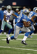 Detroit Lions running back Theo Riddick (25) runs the ball in the second quarter during the NFL week 18 NFC Wild Card postseason football game against the Dallas Cowboys on Sunday, Jan. 4, 2015 in Arlington, Texas. The Cowboys won the game 24-20. ©Paul Anthony Spinelli