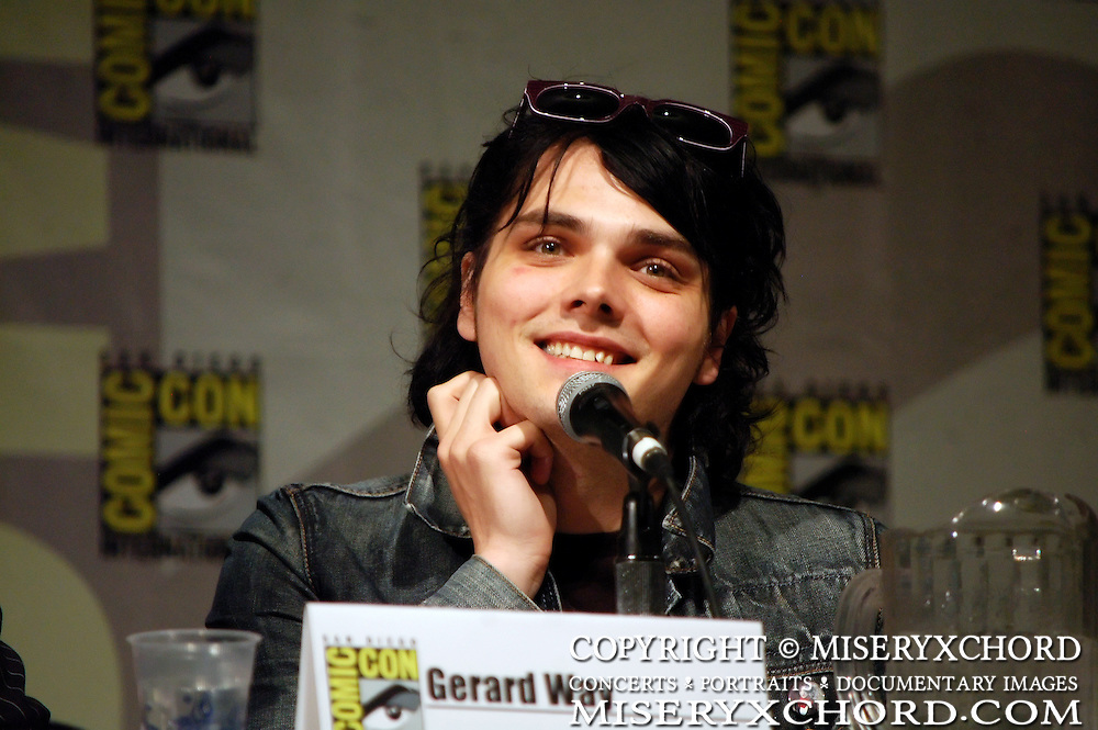 Gerard Way speaking at Comic-Con International in San Diego, California USA on July 26, 2008