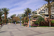 The Eilat Promenade Eilat, pop. 55,000, is Israel's southernmost city in the Southern District of Israel. Adjacent to the Egyptian city of Taba and Jordanian port city of Aqaba, Eilat is located at the northern tip of the Gulf of Aqaba, which is the eastern sleeve of the Red Sea.