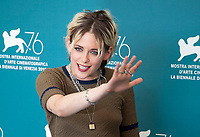 Venice, Italy, 30th August 2019, Kristen Stewart at the photocall for the film Seberg at the 76th Venice Film Festival, Sala Grande. Credit: Doreen Kennedy/Alamy Live News