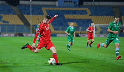 SOFIA, BULGARIA - Wednesday, November 26, 2014: Liverpool's Corey Whelan in action against PFC Ludogorets Razgrad during the UEFA Youth League Group B match at the Georgi Asparuhov Stadium. (Pic by David Rawcliffe/Propaganda)