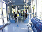Israel, Jerusalem inside the Light Train rapid urban transport system