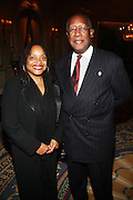 l to r: Kalia Brooks and Howard Dodson at the Weeksville Heritage Society Awards and book celebration for ' Posing Beauty ' sponsored by The Weeksville Heritage Society and held at The Jumeirah Essex House hotel on Novemeber 16, 2009