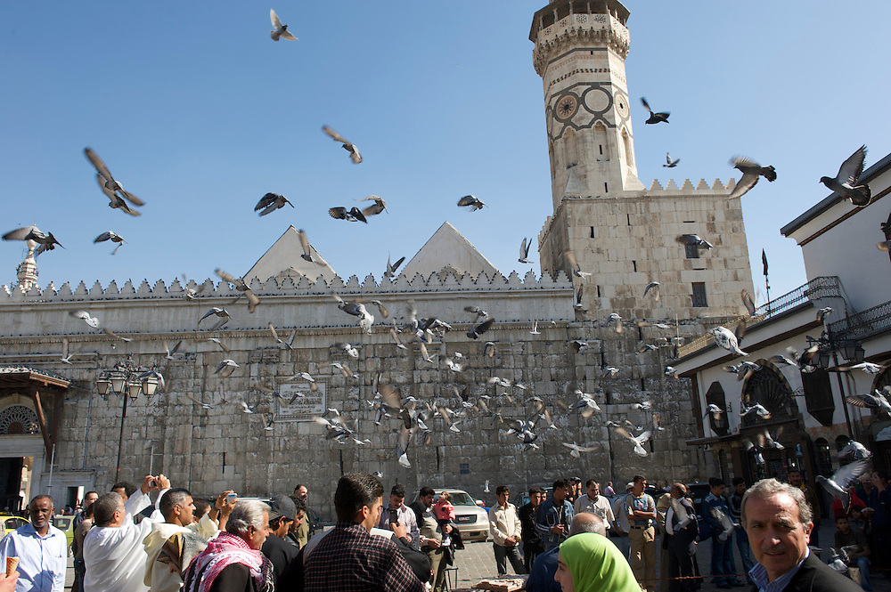 Umayyad Mosque with pigeons, Damascus