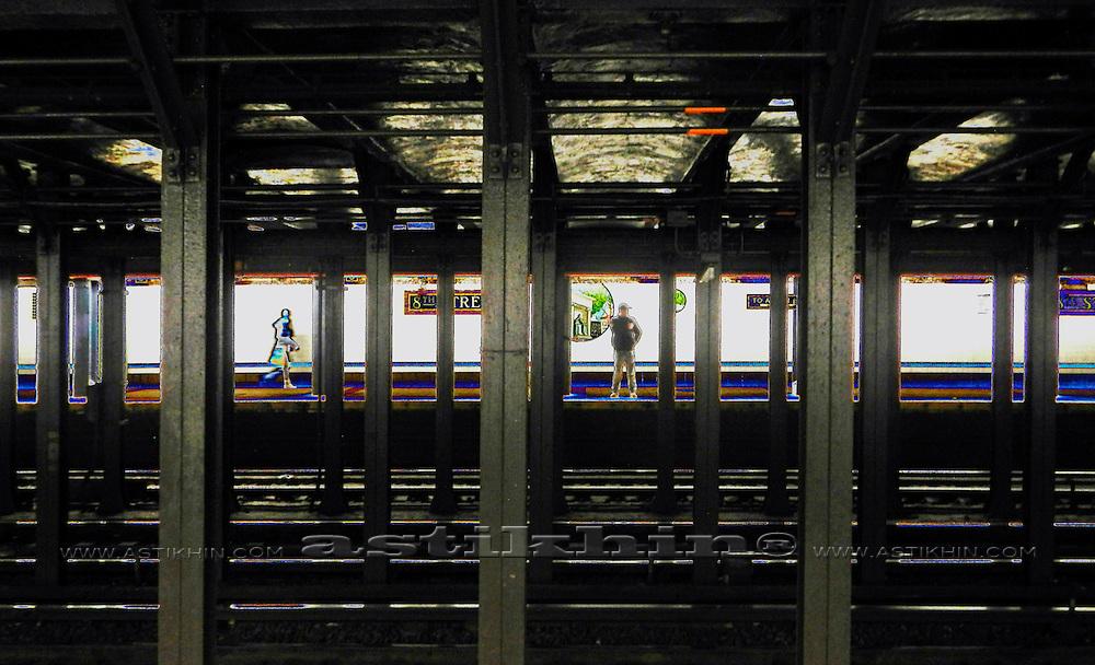 Subway in Manhattan.