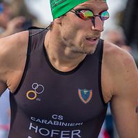 Catania (ITA), 25/10/15  - 2015 Catania ETU Triathlon European Cup and Mediterranean Championships, Daniel Hofer (C.S. Carabinieri ITA) ready to start the race. (Ph. Riccardo Giardina)